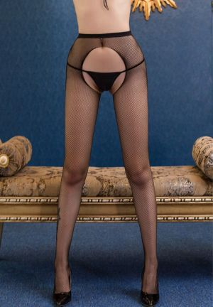 STOCKING PANTYHOSE BLACK NET SMALL